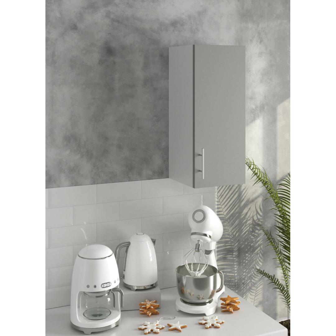 *PREMIUM* JD Greta Kitchen 300 Wall Unit Grey (SOFT CLOSE, METAL HANDLES)