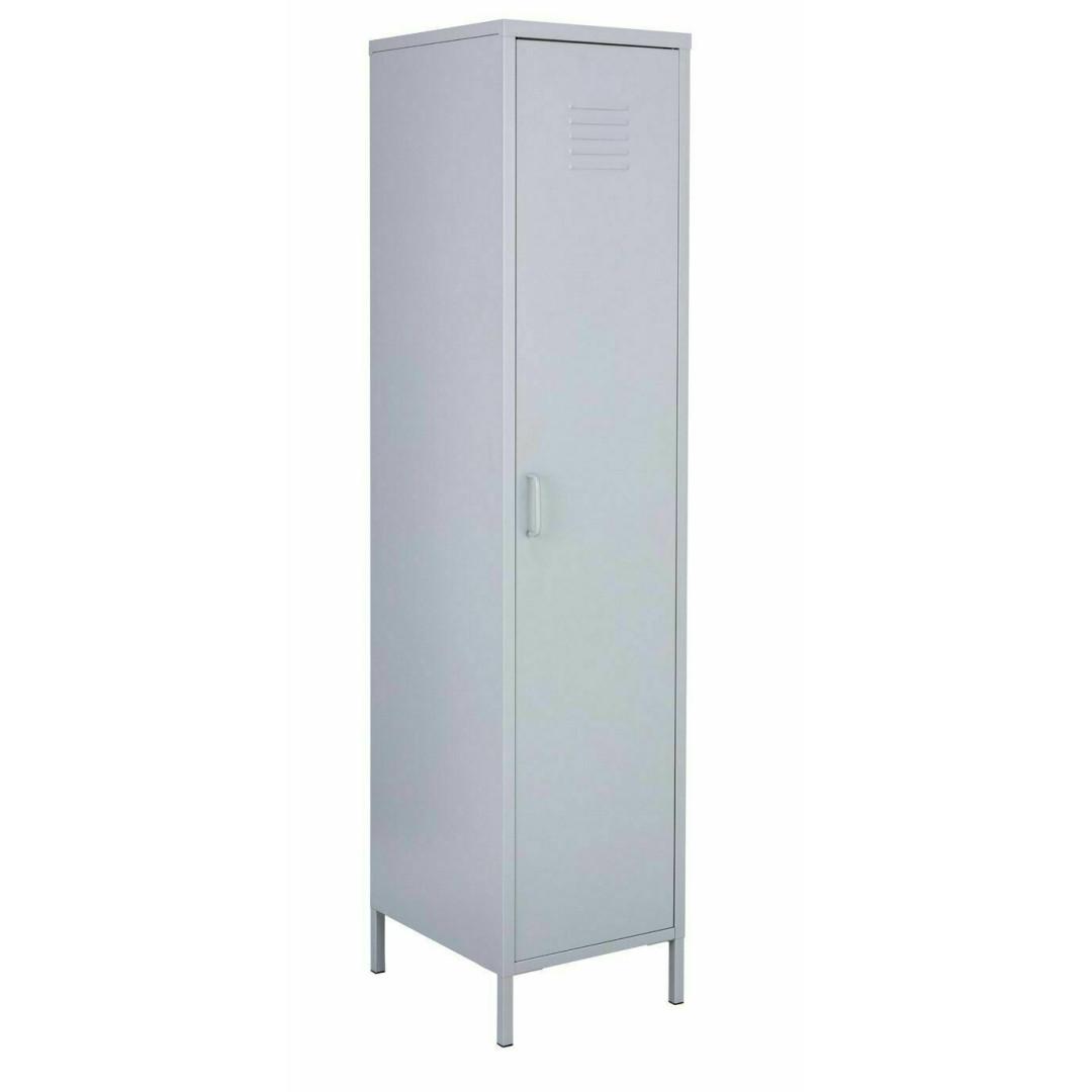 Habitat Tall 1 Door 4 Shelf Locker - Grey