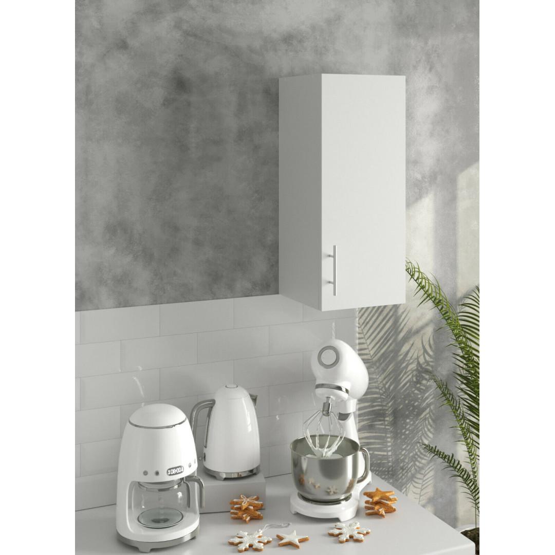 *PREMIUM* JD Greta Kitchen 300 Wall Unit White (SOFT CLOSE, METAL HANDLES)