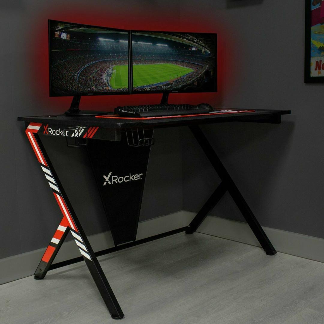 Arteon X Rocker Gaming Desk - Black