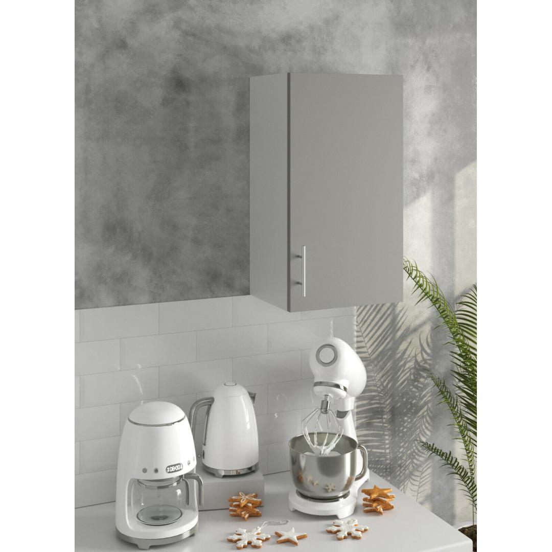 *PREMIUM* JD Greta Kitchen 400 Wall Unit Grey (SOFT CLOSE, METAL HANDLES)