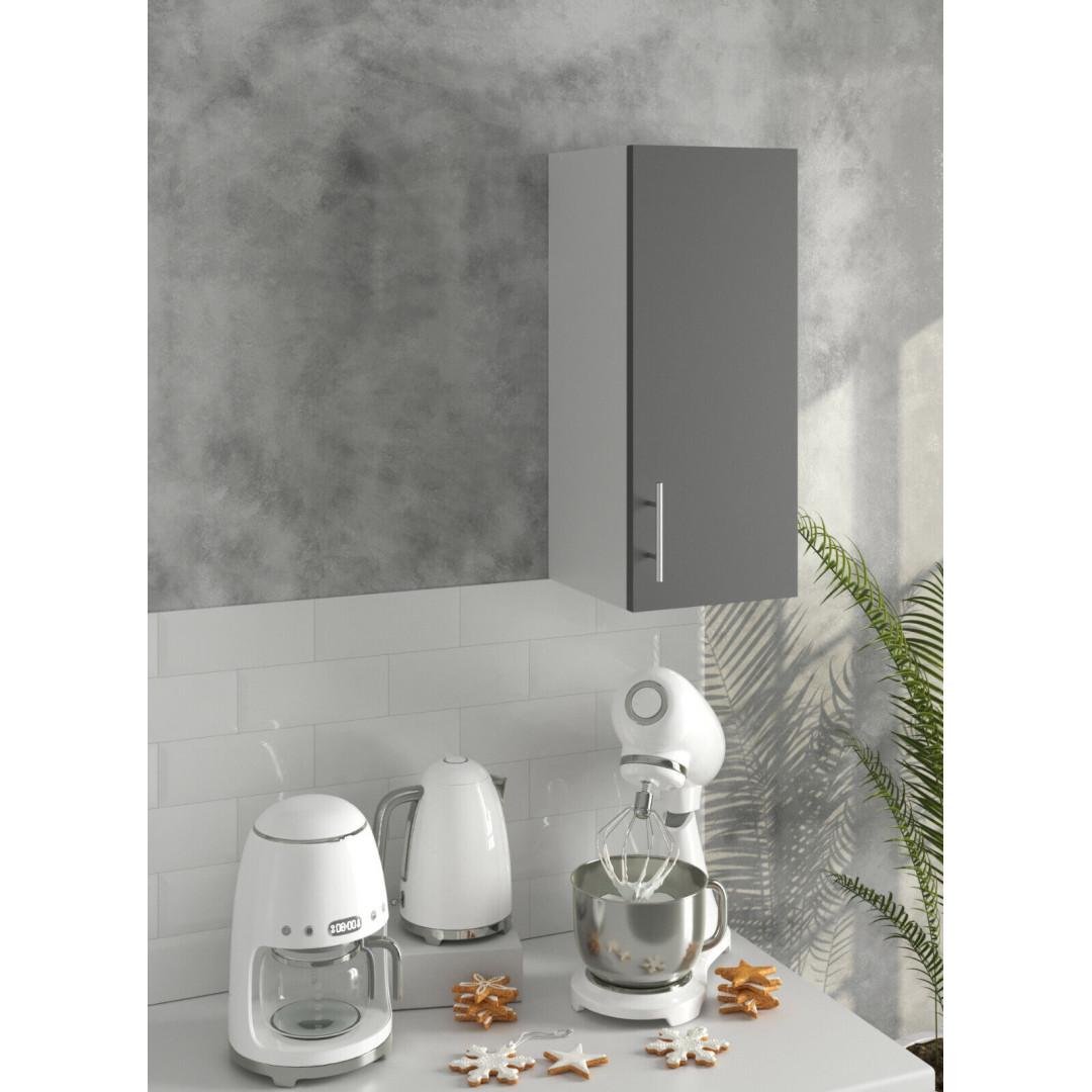 *PREMIUM* JD Greta Kitchen 300 Wall Unit Dark Grey (SOFT CLOSE, METAL HANDLES)